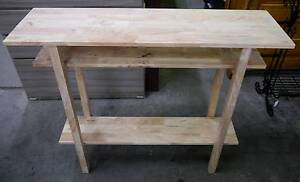 New Natural Timber Scandi Slimline Hallway Hall Table Console Melbourne CBD Melbourne City Preview