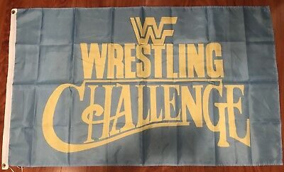 WWF World Wrestling Challenge WCW, WWF, WWE 3'x5' Flag Banner Fan USA shipper - Wwe Banner