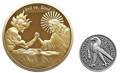 Good vs Evil AA Sobriety Recovery Challenge Coins Set US SELLER FAST SHIPPING