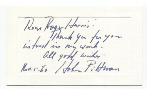 Hobson Pittman Signed Card Autographed Signature Artist Painter