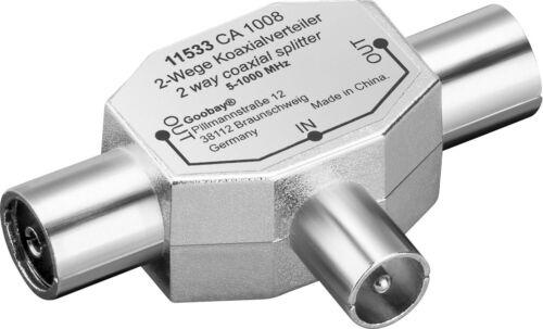 Antennenverteiler 3fach KOAX 1 Stecker > 2 Buchse #m348