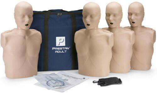 Prestan Adult AED CPR Manikins - 4 Pack Medium Skin