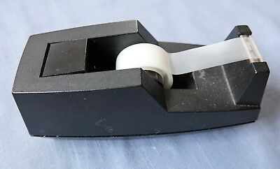 Heavy Black Desk Top Scotch Tape Dispenser 7 X 2 X 3