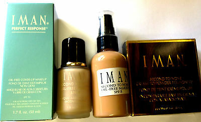 IMAN SECOND TO NONE / PERFECT RESPONSE FOUNDATION NEW **CHOOSE TYPE & SHADE**