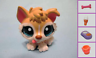 Littlest Pet Shop 1013 Cream Baby Adoption Center Husky Puppy Dog +1 Free Access