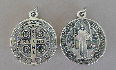 Amulett Heiliger Benediktus Kettenanhänger 4,7 cm 1 Stück Medaille Metall Q 1008