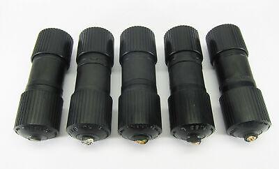 Hubbell 2P3W 30A 250V AC Twist-Lock Male Plugs Nema L6-30P black * Lot of 8