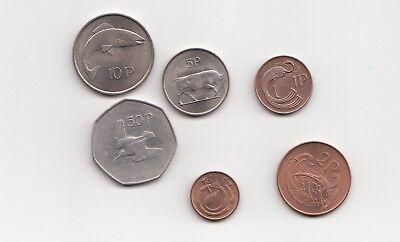 Irland Münzsatz 6 Werte 1971  Nr. 1/26/15/240