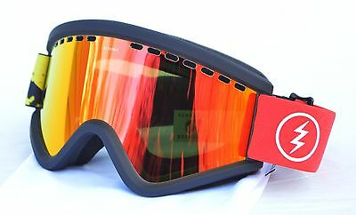 2017 NWT ELECTRIC EGV SNOW GOGGLES $120 O/S Red/Yellow Splatter/Bronze Red Lens