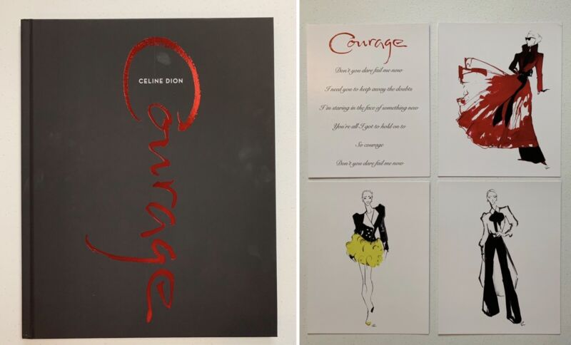 Celine Dion VIP Photograph Book & Art Work From the 2019 - 2020 Courage Tour