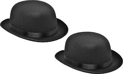 1 x oder 2 x schwarzer Herren Bowler Hut Melone schwarz Reiterhut Chaplin