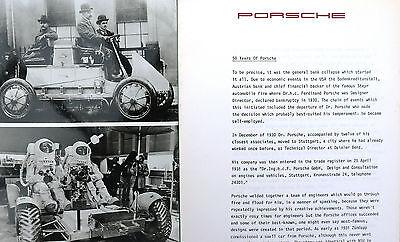Porsche 1980 Factory Press Release