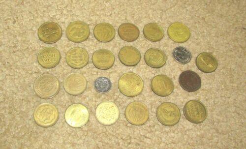 LOT OF (25) VINTAGE ARCADE COINS TOKENS NO CASH VALUE AMUSEMENT FUN CENTER