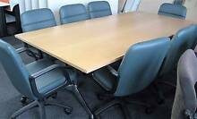 Boardtable and leather chairs Karabar Queanbeyan Area Preview