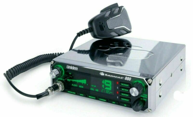 Uniden Bearcat 880 CHROME EDITION 40-Channel CB Radio with 7-Color Display NOAA