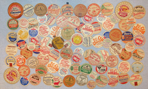 Lot of 91 Vintage Milk Dairy Bottle Caps