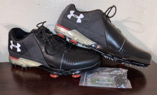 Under Armour Spieth 2 Golf Shoe Sz 14 Spike Gore-Tex Black/G