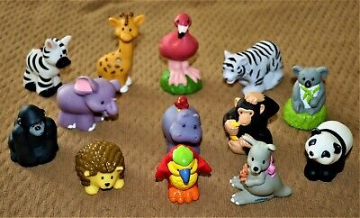 FISHER PRICE LITTLE PEOPLE ZOO ANIMALS LOT OF 13