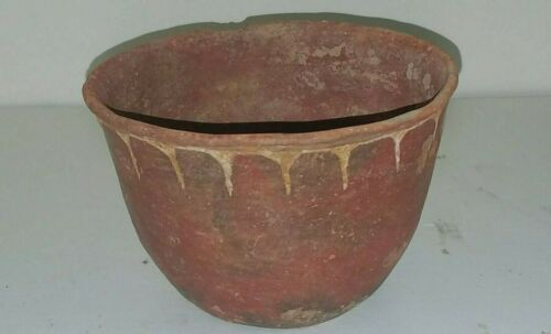 Hardman Engraved Redware Bowl Ancient Native American Caddo Indian Pottery w/COA