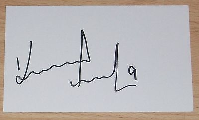 KENNY MILLER RANGERS SCOTLAND PERSONALLY SIGNED AUTOGRAPH INDEX CARD