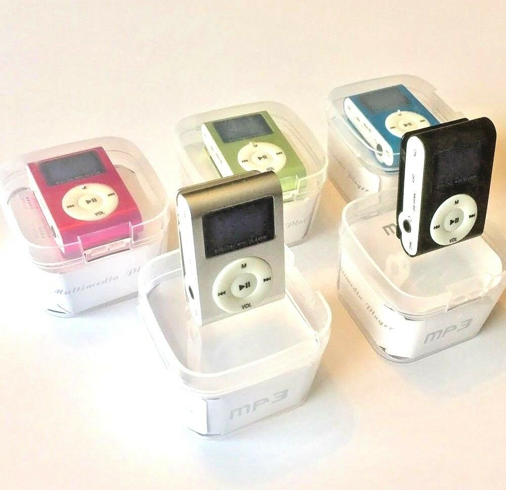 Green Mini MP3 Player Clip USB FM Radio LCD Screen Support for 32GB BRCE