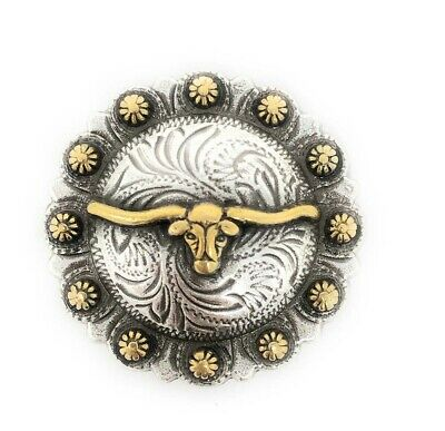 6X Bling Gold Star Berry Silver Conchos Western Cowboy Decoration Chicago Screw
