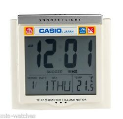 Casio DQ-750F-7D Digital Alarm Clock - Thermometer Snooze Calendar DQ-750 White