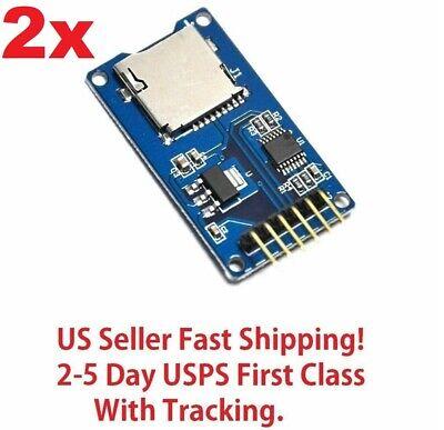 2pc Micro Sd Storage Board Card Memory Shield Module Spi For Arduino