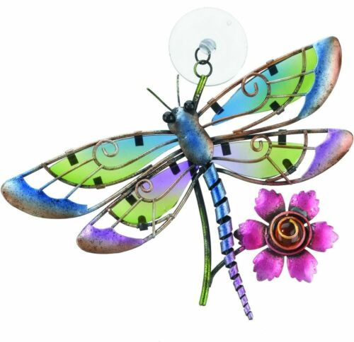 """Regal Art & Gift """"Dragonfly"""" Suncatcher, Stained Glass & Metal Décor"""