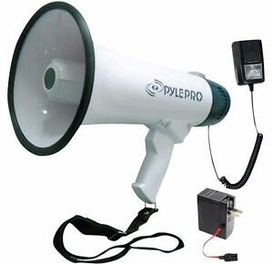 PylePro (PMP45R) Megaphone With Recording Function Detachable Microphone and Rechargeable batteries