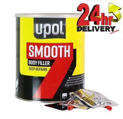 U-Pol Smooth 7 Car Body Filler 3L Litre Easy Sand Deep Dent Repair Upol