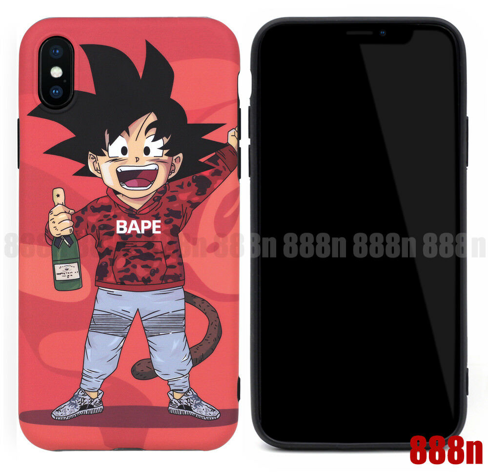 save off e047a de5ff Details about Dragon Ball Z Son Goku Bape Yeezy Case For Apple iPhone XS  Max XR X 8 7 Plus 6S