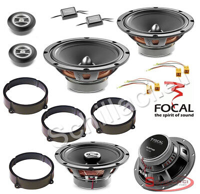 165 mm Speakers for Fiat Lancia Alfa Romeo Vauxhall Ford Peugeot Citroen Sound Way Spacer Rings adapters and Harness kit for 6.5 inch