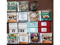 2 x nintendo ds lite plus 11 games, games cases and charger