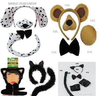 Dalmatian Set Bear Set & Sound Formal Deluxe Cat Set Halloween Party Accessory