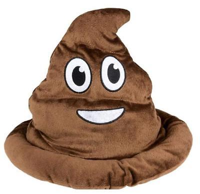 Party Hat Emoji (SOFT Fabric Brown Emoji Poop Hat - Costume Party Gag)