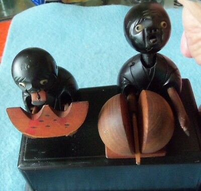 VERY RARE KOBE  MECHANICAL TOY CIRCA 1890... BLACK AMERICANA