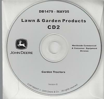John Deere Db1479 Garden Tractors Compact Utility 15 Technical Manuals On Cd