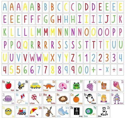 A4 Lightbox - extra Alphabet letters educational coloured symbols free UK P&P