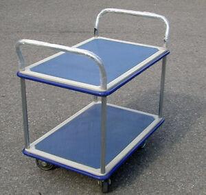 platform cart 2 shelf - chariot à platforme