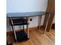 Office Desk (Black Glass)