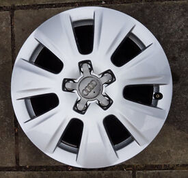 "Genuine Audi 16"" Alloy Wheels With Centre Caps x4, Q3 Reduced to Clear."