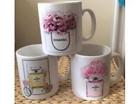 Set Of 3 Designer Inspired Mugs