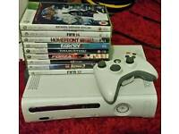 Xbox 360 console 60gb hdd with 9 games