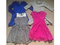 Girls dresses bundle 9-10yrs(River Island...)