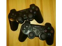 2x Genuine PS3 Controllers