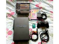 Sony PS2 with games and Eyetoy