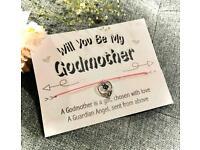 🌸 WILL YOU BE MY GODMOTHER 🌸 Make a Wish Bracelet, Wish Strings, Charm Bracelet, Gift