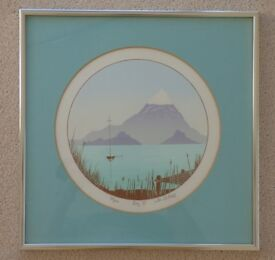 Limited Edition Print called Bay II signed by S King - with chrome frame and mount