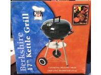 "Berkshire 17"" Kettle Grill Outdoor Charcoal bbq Barbecue NEW"
